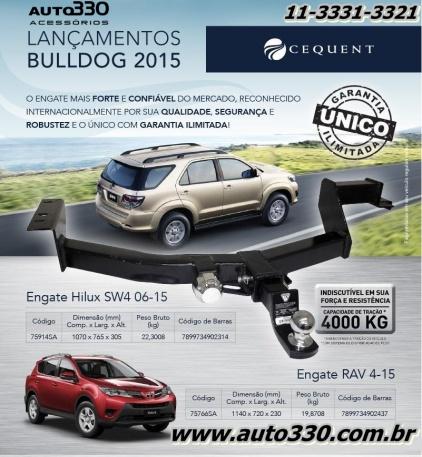 Lançamento Engates Bulldog Toyota Rav 4 2015 e SW4