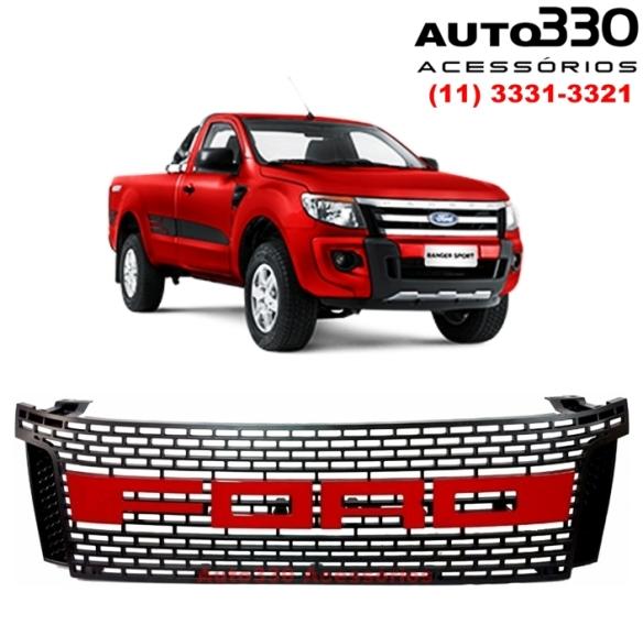 Grade Ford Ranger Raptor Vermelha 2012 2013 2014 2015 - Auto330 Acessórios (1)²
